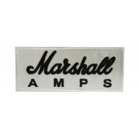 0511 Patch emblema bordado 10x4 MARSHALL AMPS