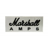 Patch emblema bordado 10x4 MARSHALL AMPS