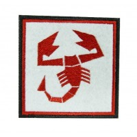 0516 Embroidered patch 7x7 ABARTH SCORPION