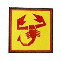0517 Embroidered patch 7x7 ABARTH SCORPION