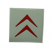 0520 Embroidered patch 7x7 CITROEN 1985 LOGO