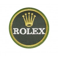 0521 Embroidered patch sew on 7x7 ROLEX
