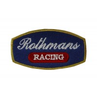 0522 Embroidered patch sew on 9x5 ROTHMANS RACING