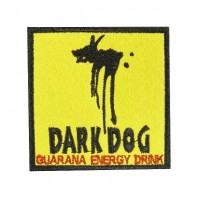 0523 Embroidered patch sew on 7x7 DARK DOG