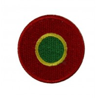 0529 Embroidered patch sew on 4x4 Portugal flag Vespa