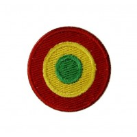 0530 Embroidered patch sew on 4x4 Reggae flag Vespa