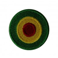 0531 Embroidered patch sew on  4x4 Reggae flag Vespa