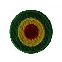 0531 Patch emblema bordado 4x4 bandeira reggae Vespa