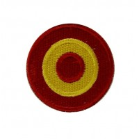 0535 Embroidered patch sew on 4x4 Spain flag Vespa