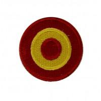 0535 Patch emblema bordado 4x4 bandeira Espanha Vespa