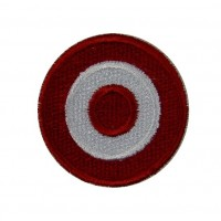 0536 Embroidered patch sew on 4x4 Austrian colors flag Vespa