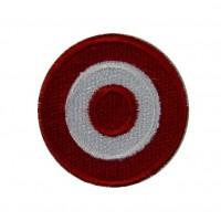 0536 Patch emblema bordado 4x4 bandeira cores Austria Vespa