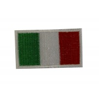 0539 Embroidered patch sew on 6X3,7 flag ITALY