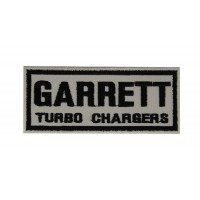 0545 Embroidered patch 10x4 GARRETT TURBO CHARGERS