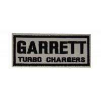 0545 Patch emblema bordado 10x4 GARRETT TURBO CHARGERS