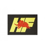 0574 Embroidered patch 10x6 HF ELEFANTINO ROSSO LANCIA