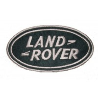 0033 Embroidered patch 13x7 LAND ROVER grey