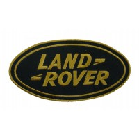 0035 Patch emblema bordado 13x7 LAND ROVER dourado