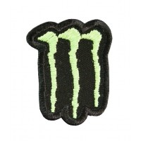 0601 Embroidered patch sew on 4x4 MONSTER
