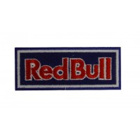 0622 Embroidered patch sew on 10x4 Red Bull