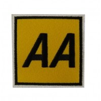 Embroidered patch 7x7 AA Automobile Association