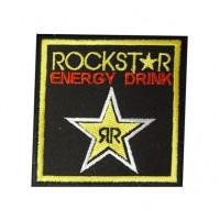 0632 Patch emblema bordado 7x7 RockStar energy drink