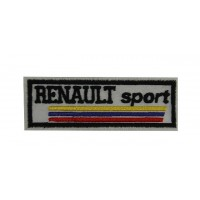 0629 Patch emblema bordado 10x4 RENAULT SPORT
