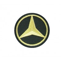 0648 Embroidered patch 5X5 MERCEDES