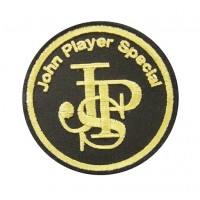 0660 Embroidered patch sew on 75mmX75mm  JPS JOHN PLAYER SPECIAL